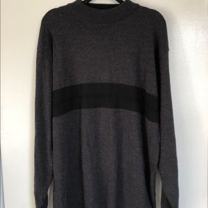 Mens pronto-uomo sweater grey black size XXLT